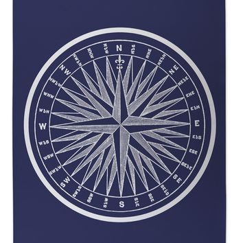 NAUTICAL COMPASS Indoor|Outdoor Floor Mat By Terri Ellis