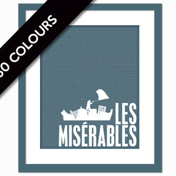 Les Miserables by Victor Hugo - Book Art Print - Book Lovers Poster - Literature Poster - Les Mis - English Teacher Gift - Literary Classic