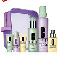 Clinique Great Skin Home and Away Skin Set Types 1/2