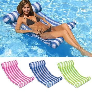 water floating bed water hammock inflatable recreational chair floating