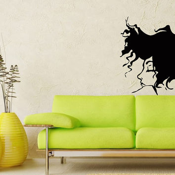 Wall  Vinyl Decal Sticker art design fashion girl beauty saloon room picture elegancy hall wall Chu1036