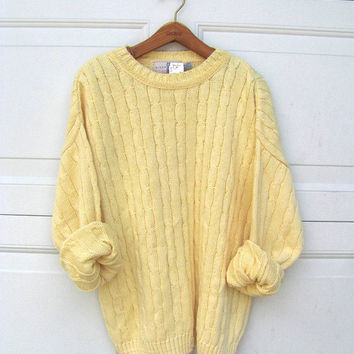 Best Yellow Cable Knit Sweater Products on Wanelo