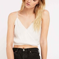 Pins & Needles Surplice Cami Top in Ivory - Urban Outfitters