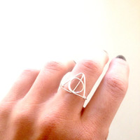 harry potter inspired deathly hallows ring