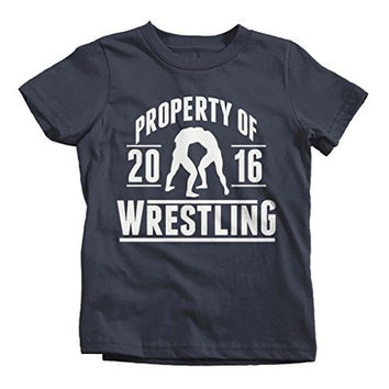 Shirts By Sarah Boy's Property Of Wrestling 2016 T-Shirt
