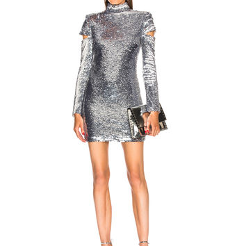 Helmut Lang Disco Dress in Silver | FWRD