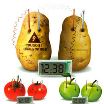 New Energy toys Potato Clock Green Science Electro chemical Cells Electrical energy Conversion Teaching toys Learning Machine