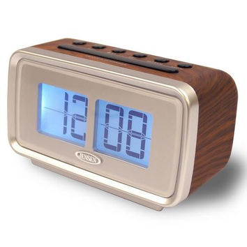 Jensen AM/FM Dual Alarm Clock with Digital Retro Flip Display