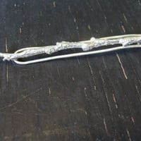 Sterling Silver Branch Hairclip -- Nature Cast -- Botanical Jewelry -- Ready to Ship