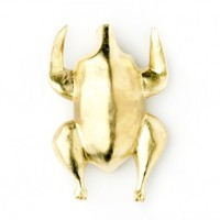 Gilded Wooden Plucked Chicken by Mr Somebody and Mr Nobody - home décor - house & home