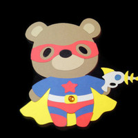 Super Hero Teddy Bear, Kids Cards, Cards for Children, Teddy Bear Card, Bears