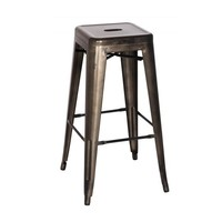Oxford Metal Counter Stool- Set of 4 GUNMETAL