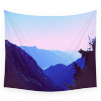 Society6 Blue Mountains Wall Tapestry