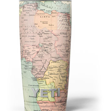The Zoomed In Africa Map Yeti Rambler Skin Kit
