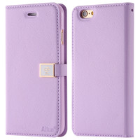 Brand Ailun Luxury Leather Case for iphone 6 6S 4.7 for i6 6s Plus 5.5 Wallet Stand Flip Phone Bag Cover Cute With Card Slot