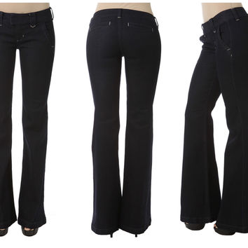 Dark Wide Leg Trouser Jeans