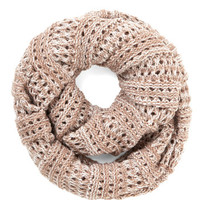 ModCloth Boho Two-Tone of a Kind Scarf in Rose and Ivory