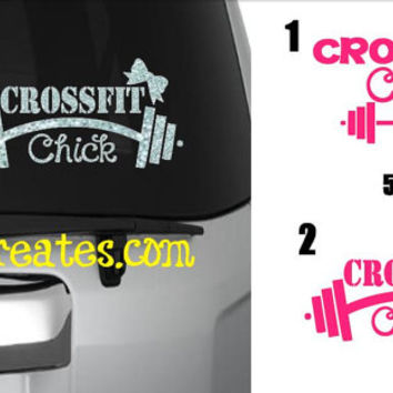 Crossfit Chick Crossfit Decal - Glitter Vinyl or Regular Vinyl