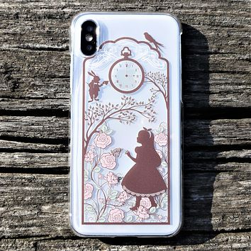 Alice in Wonderland Hard Shell Clear iPhone Case