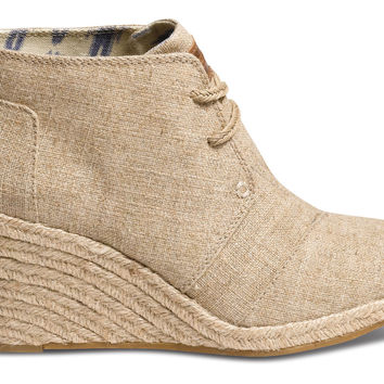 TOMS Desert Wedge Women Natural Burlap