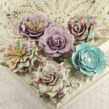 Best paper flower embellishments products on wanelo prima flowers paloma collection sweet fairy mulberry paper f mightylinksfo