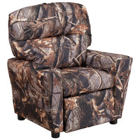 Flash Furniture Contemporary Camouflaged Fabric Kids Recliner with Cup Holder [BT-7950-KID-CAMO-GG]