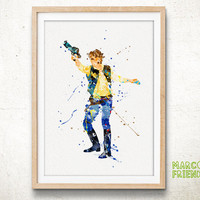 Star Wars Han Solo - Watercolor, Art Print, Home Wall decor, Watercolor Print, Star Wars Poster