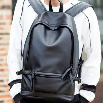 New Womens mens vintage Leather backpack rucksack bag laptop casual travel school bags
