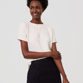 Shirttail Top | LOFT