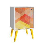 Avesta Side Table 1.0 White/ Stamp/ Yellow