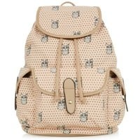 Light Pink Owl Print Duffle Bag
