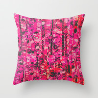 Pink & Red Throw Pillow by Georgiana Paraschiv