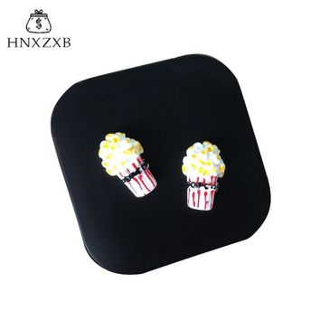 HNXZXB  Women Contact Lenses Storage Box Cartoon Popcorn Contact lens Box Eyes Care Kit Holder Travel Washer Cleaner Container