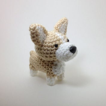 Welsh Corgi Crochet Dog Amigurumi Dog Stuffed Animal by Inugurumi
