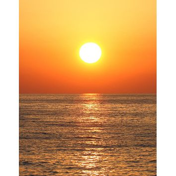 Sunset Over Ocean Wall Mural Decal Sticker #6008