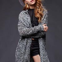 House of Harlow Hooded Cardigan Sweater - Womens Sweater - Black - One
