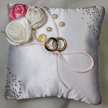 Wedding ring pillow / Wedding pillow / white pillow for wedding rings / wedding sets (without rings) / Ring Bearer Pillow / wedding sets