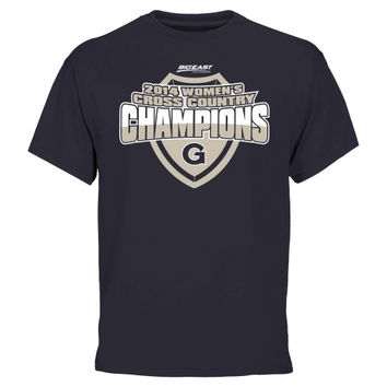 Georgetown Hoyas 2014 Women's Cross Country Conference Champs T-Shirt - Navy Blue
