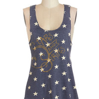 ModCloth Festival Mid-length Tank top (2 thick straps) Star-Spangled Planner Tank