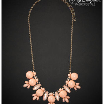 Aeropostale Pretty Little Liars Hanna Cluster Long-Strand Necklace - Oxford Pink, One