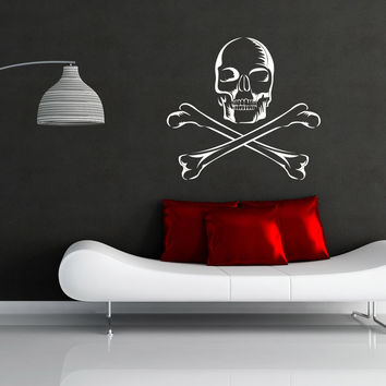 Vinyl Wall Decal Sticker Skull and Crossbones #1171