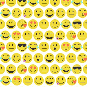 Birthday Party Gift Wrap Wrapping Paper, Emojis (8 Rolls 5ft x 30in)
