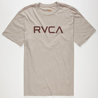 Rvca Big Rvca Mens T-Shirt Grey  In Sizes