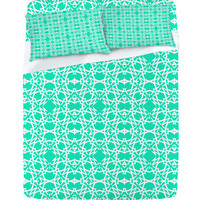 DENY Designs Home Accessories | Lisa Argyropoulos Electric In Sea Green Sheet Set