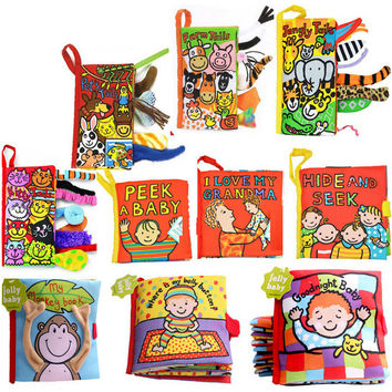 Cute cartoon infant toddlers toys early development animal soft cloth books for baby children learning education story books