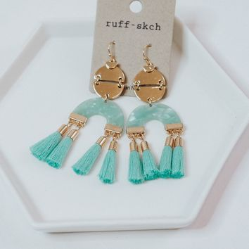 Gabriela Earrings in Turquoise