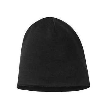 Men Women 100% super fine Merino wool Beanie hat Reversible Training running winter thermals fleece cap knit Sports Warm cosy