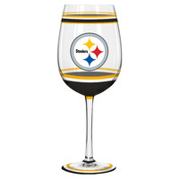 Pittsburgh Steelers  Wine Glass - 18oz Brush Painted