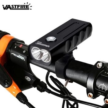 USB Bike Lamp Mountain Bike Waterproof Handlebar Headlight 3 Modes Bicycle Front Light Rechargeable T6 Cycling Torch