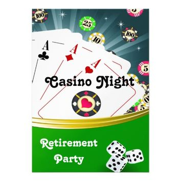Casino Night Retirement Party Invitations